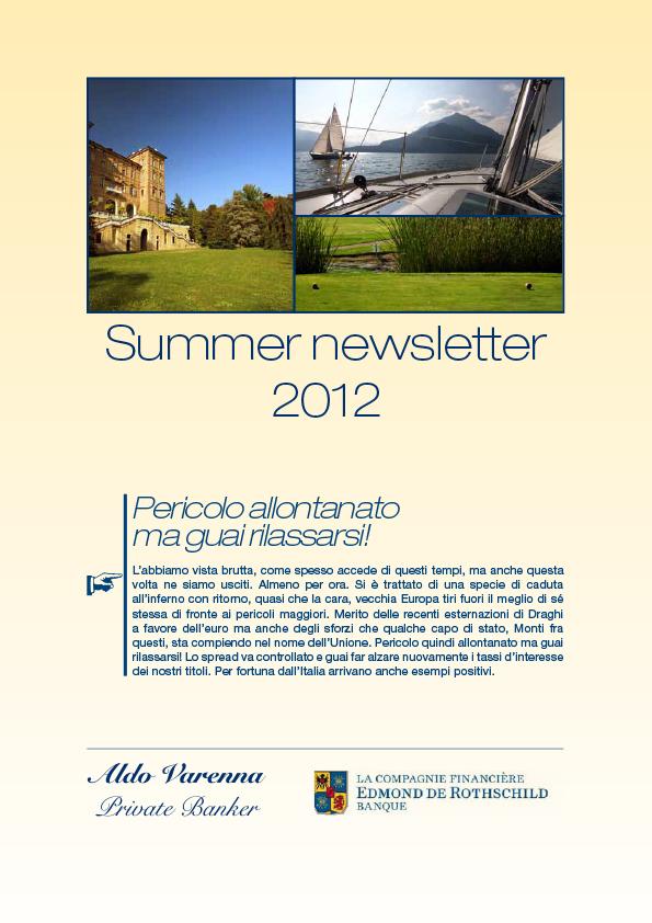Aldo Varenna Newsletter #4
